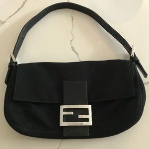 Vintage authentic Fendi neoprene baguette bag